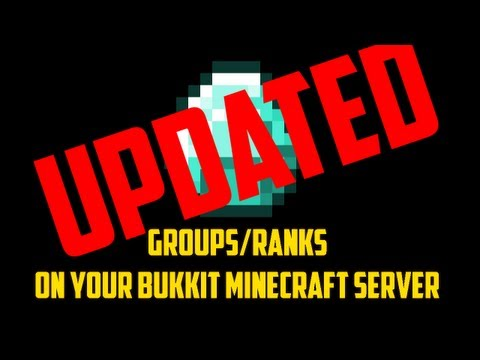 How to get groups/ranks on your Bukkit Minecraft server! - UPDATED