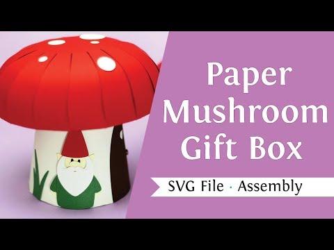 Paper Mushroom Gift Box - Trailer - SVG File