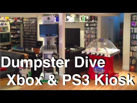 Dumpster Diving Episode #1 - PS3 & Xbox 360 Demo Kiosks Score!!!