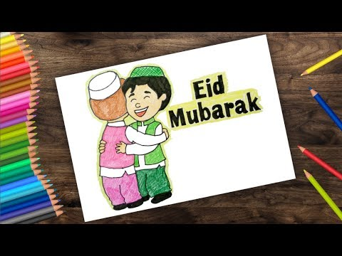 How To Draw Eid Mubarak Festival Eid Al Adha 2018 D0wrf Videostube