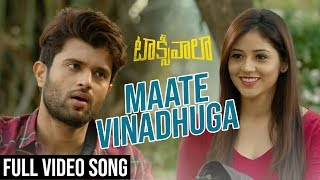 Maate Vinadhuga Full Video Song | Taxiwaala Video Songs | Vijay Deverakonda, Priyanka Jawalkar