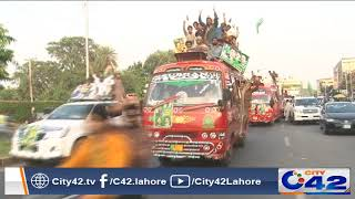 PML N women supporters special dresses in Jalsa