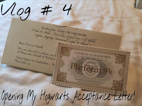 Vlog #4: Opening My Hogwarts Acceptance Letter!