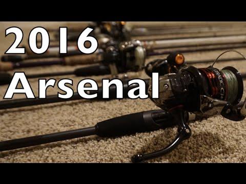 BBM1 2016 Rod And Reel Arsenal - Bass Fishing