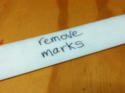 How to Remove Marks made by a Permanent Marker - Simple & Easy - Step by Step Instructions