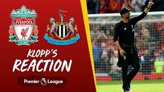 Klopp's reaction: Liverpool v Newcastle | Klopp on Reds' resilience, Firmino & Origi