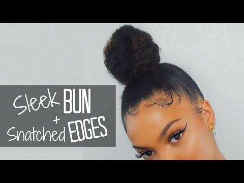 QUICK & EASY Sleek Top Knot + Baby Hair Tutorial