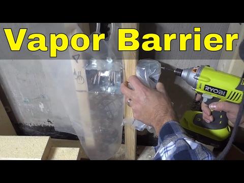 Vapor Barrier Installation Around Electrical Box-DIY