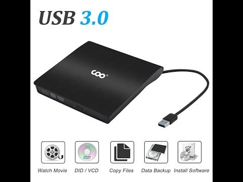 COO External DVD Drive USB 3.0 Portable CD DVD Optical Drive