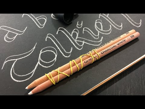 Double Pencil Calligraphy Tutorial