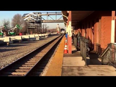 Two Trains in Berlin CT, with a RARE Vermonter consist of two P42's