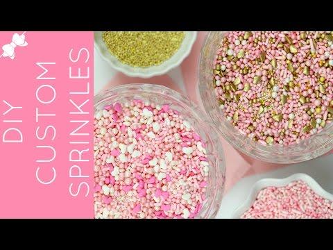 How to Make DIY Homemade Custom Sprinkle Blends // Lindsay Ann Bakes