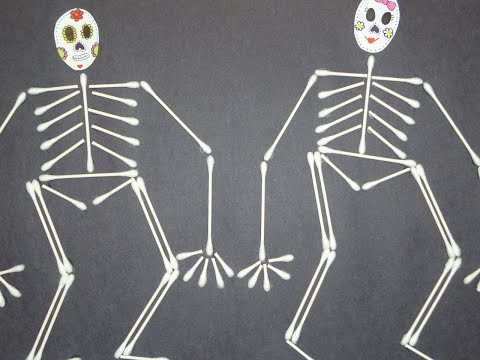 Arts & Crafts for Kids : Q-Tip/Cotton Swab Skeleton