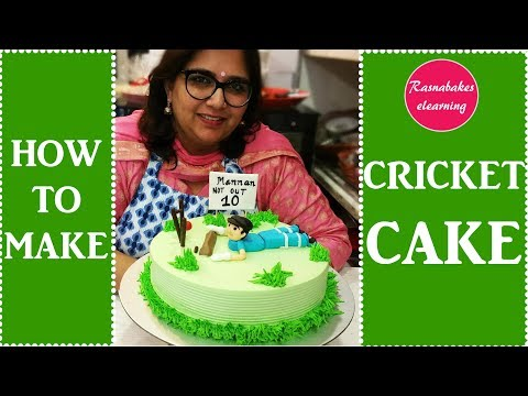 How to make Cricket Cake: Decorating Tutorial