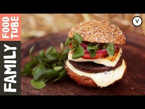 Halloumi & Mushroom Burger | Shane Russell & DJ BBQ