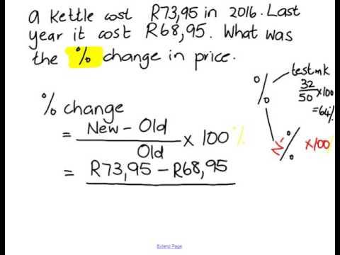 10ML Percentage change