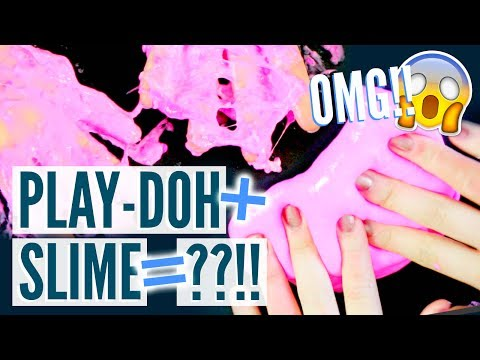 MIXING PLAY-DOH AND SLIME?!! SO WEIRD OMG!! | Angelynn