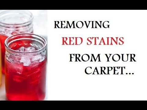 DIY: Removing Red Stains From Carpet