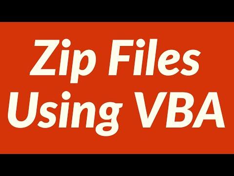 Zip Files Using VBA