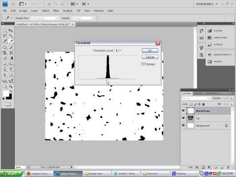 Create Splashy Water Drops using Photoshop CS4
