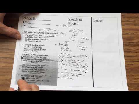 T9bailey Teaches: Sketch to Stretch with Poetry--Emily Dickinson poem