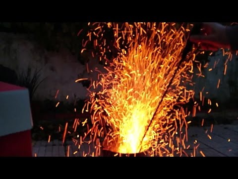 Furnace Spitting Fire And Sparks