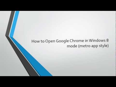 How to Open Google Chrome in Windows 8 mode (Metro app style)