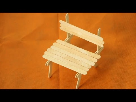 How to make popsicle stick chair - Diy doll chair