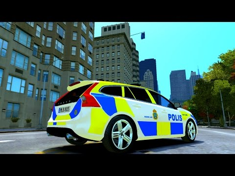 #275 Volvo V60 Swedish Police ELS | NEW ! CAR ! GTA IV ! [60 FPS]