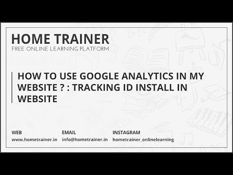 How To Use Google Analytics in My Website ??? : Tracking ID Install in Website