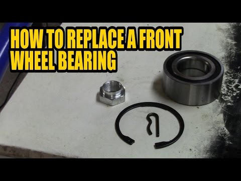 How to replace a front wheel bearing Citroen Xsara Picasso 2003