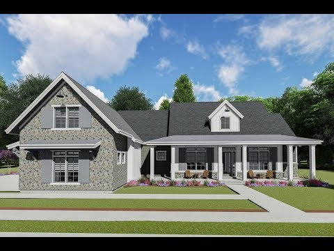 Architectural Designs Modern Farmhouse Plan 64464SC Virtual Tour