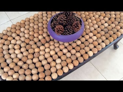 How To Make A Rustic Cork Table - DIY Home Tutorial - Guidecentral