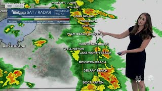 1130AM FORECAST: Flood watch for Martin, St. Lucie, Indian River counties through Saturday