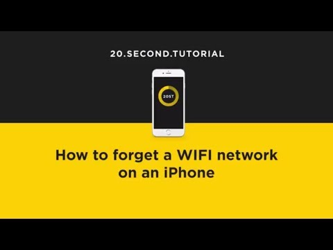 Forget a WIFI network on an iPhone | Apple iPhone Tutorial #7