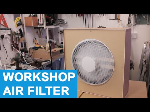 DIY Workshop Air Filter/Cleaner  - Evening Build