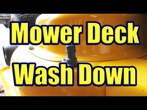 How to use the Mower Deck Wash Port (Using the Smart Jet Wash System for the LXT 1050)