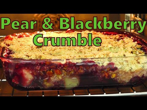 How to make Pear & Blackberry Crumble easy recipe