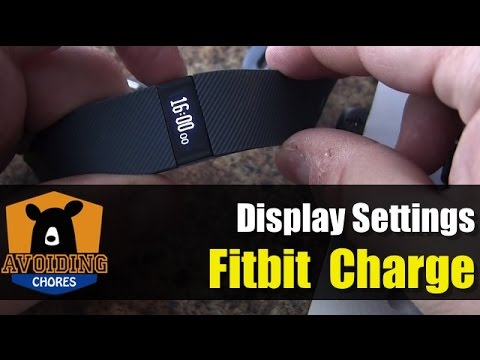 Fitbit Charge - Customize Display Settings