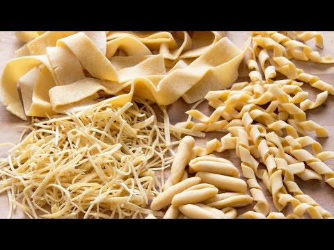 How to make Pasta Shapes at Home (e.g. Tagliatelle, Fusilli, Farfalle) | HappyFoods