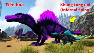 "ARK: Ragnarok Mod #19 - Mình Tiến Hóa Khủng Long Gai ""Prime Spinosaurus"" Lên ""Infernal Spinosaur"""