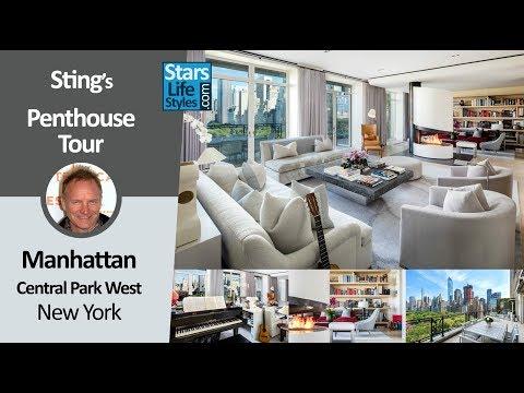 Sting's Manhattan Penthouse Tour | Central Park West, New York | $56 Million | Celebrity House