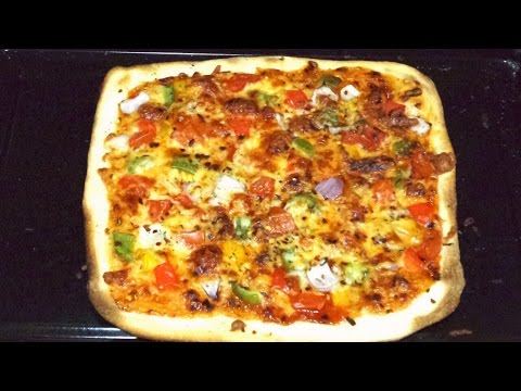 Thin Crust Pizza at Home Easy Step by Step. RECIPE #277