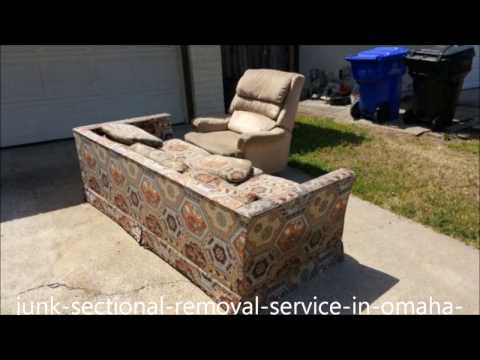 Sectional  Removal Omaha NE | Excel Junk Removal Service | Furniture Sectional Couch Sofa Hide-a-bed