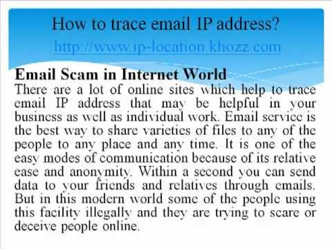How to trace email IP address