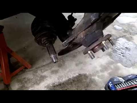 How to change front wheel bearing on car (Subaru)