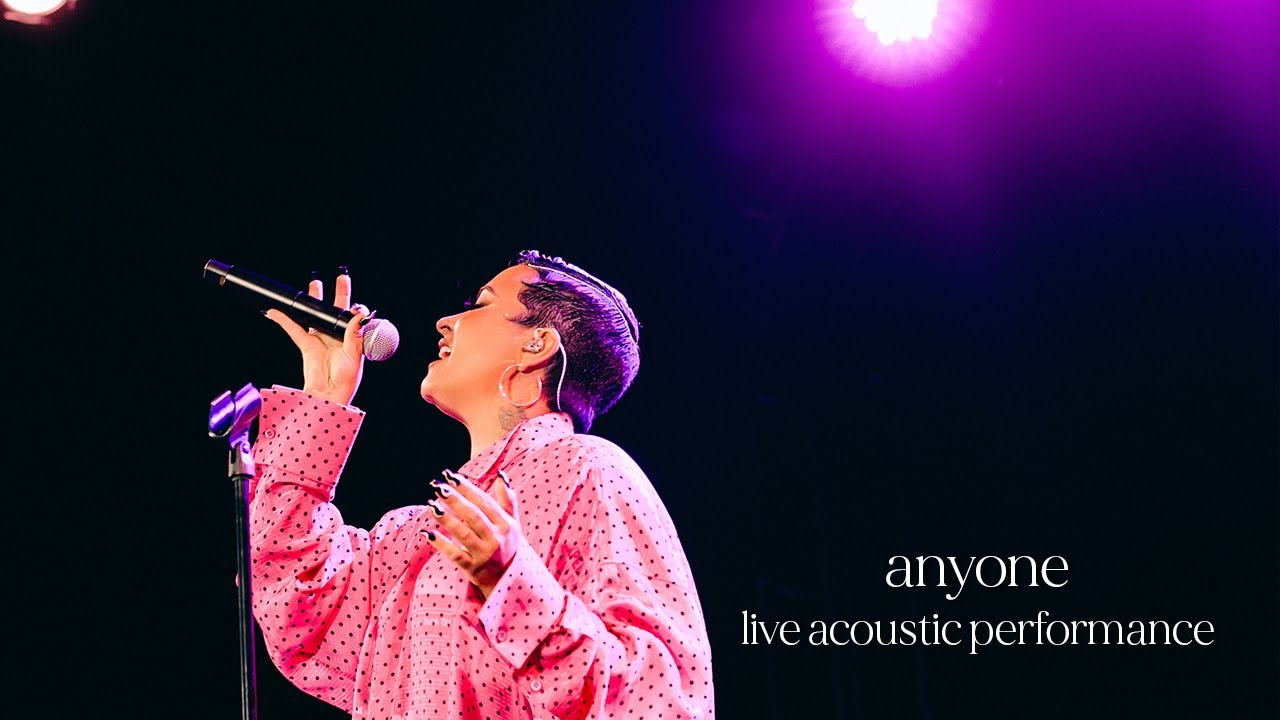 Demi Lovato - Anyone (Live Acoustic Performance)