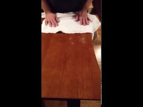 How to remove white heat stains from wood table, part-one