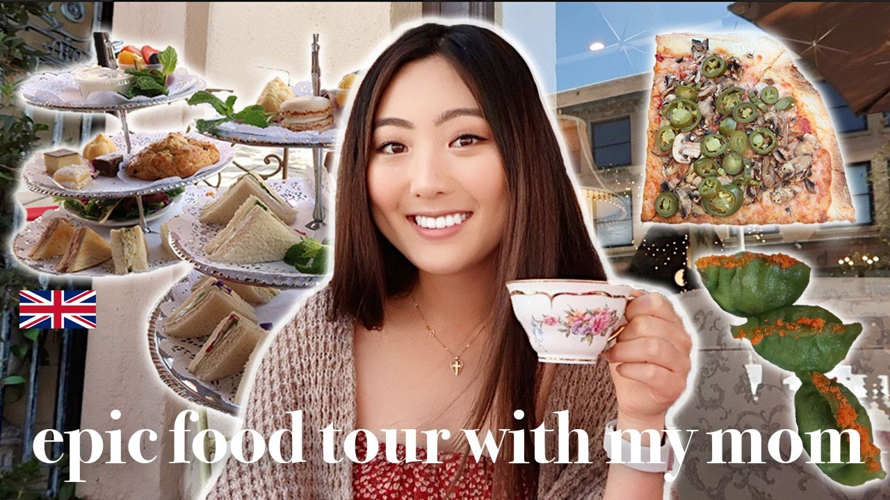 CHEAT DAY EVERYDAY   WHAT I EAT IN A DAY WITH MY MOM *food tour in la*   tea time, dim sum, dessert