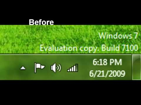 Windows 7 - Change What The Clock Says In The System Tray